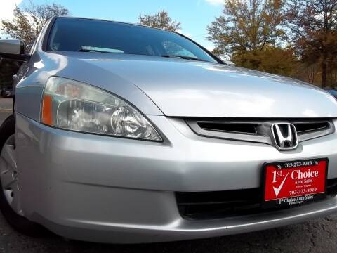 2004 Honda Accord for sale at 1st Choice Auto Sales in Fairfax VA