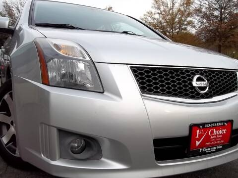 2012 Nissan Sentra for sale at 1st Choice Auto Sales in Fairfax VA