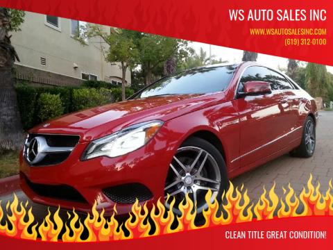 2014 Mercedes-Benz E-Class for sale at WS AUTO SALES INC in El Cajon CA