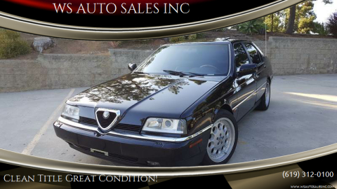 1994 Alfa Romeo 164 for sale at WS AUTO SALES INC in El Cajon CA