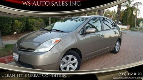 2004 Toyota Prius for sale at WS AUTO SALES INC in El Cajon CA