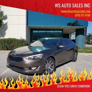 2014 Kia Cadenza for sale at WS AUTO SALES INC in El Cajon CA