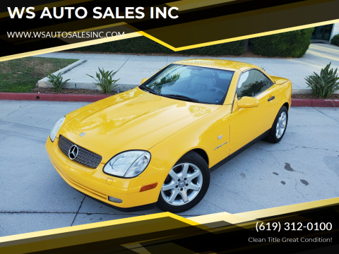 1998 Mercedes-Benz SLK for sale at WS AUTO SALES INC in El Cajon CA