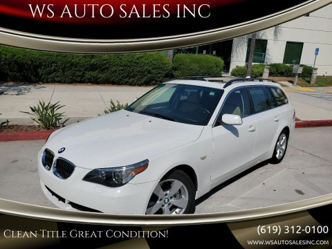2006 BMW 5 Series for sale at WS AUTO SALES INC in El Cajon CA