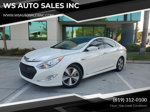 2012 Hyundai Sonata Hybrid for sale at WS AUTO SALES INC in El Cajon CA