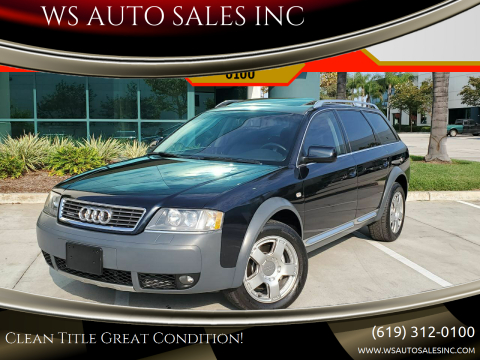 2004 Audi Allroad for sale at WS AUTO SALES INC in El Cajon CA