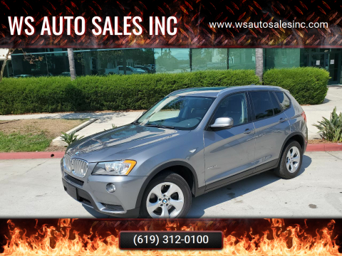 2012 BMW X3 for sale at WS AUTO SALES INC in El Cajon CA