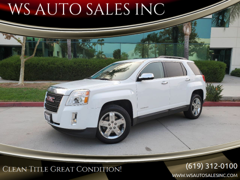 2013 GMC Terrain for sale at WS AUTO SALES INC in El Cajon CA
