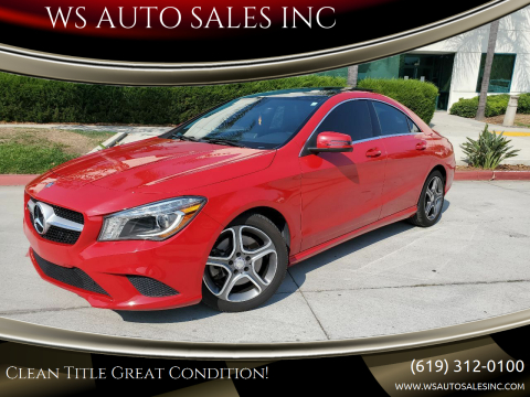 2014 Mercedes-Benz CLA for sale at WS AUTO SALES INC in El Cajon CA