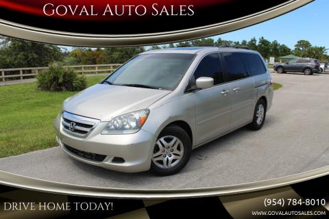 2006 Honda Odyssey for sale at Goval Auto Sales in Pompano Beach FL
