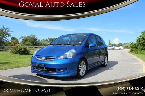 2007 Honda Fit for sale at Goval Auto Sales in Pompano Beach FL