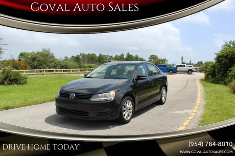 2012 Volkswagen Jetta for sale at Goval Auto Sales in Pompano Beach FL