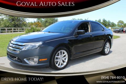 2011 Ford Fusion for sale at Goval Auto Sales in Pompano Beach FL