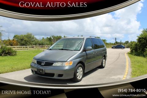2002 Honda Odyssey for sale at Goval Auto Sales in Pompano Beach FL