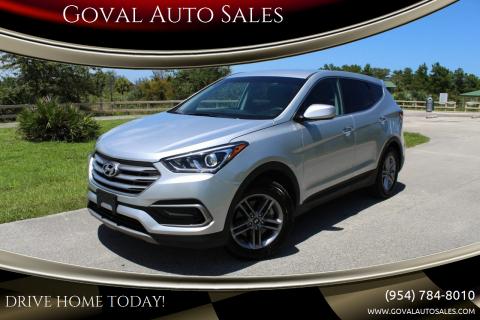2017 Hyundai Santa Fe Sport for sale at Goval Auto Sales in Pompano Beach FL