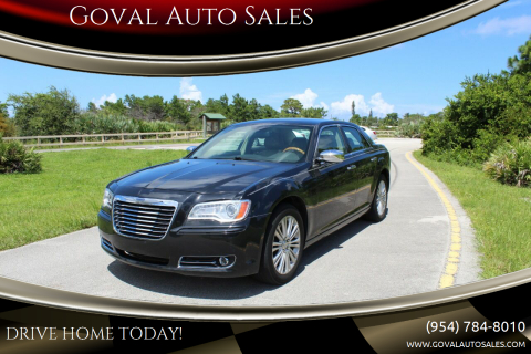 2014 Chrysler 300 for sale at Goval Auto Sales in Pompano Beach FL