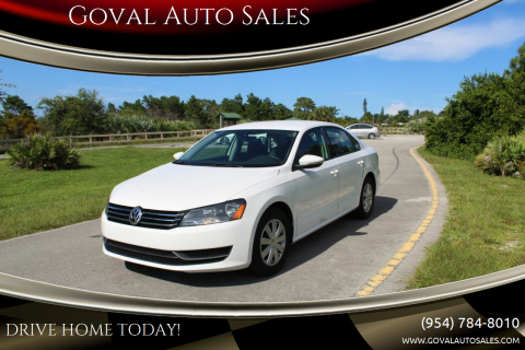 2012 Volkswagen Passat for sale at Goval Auto Sales in Pompano Beach FL