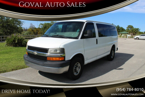 2008 Chevrolet Express Passenger for sale at Goval Auto Sales in Pompano Beach FL