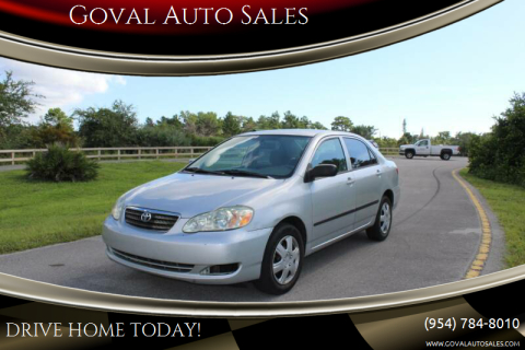 2007 Toyota Corolla for sale at Goval Auto Sales in Pompano Beach FL