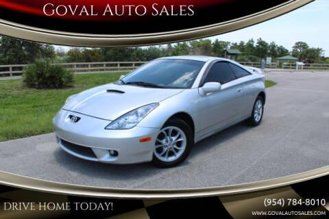 2000 Toyota Celica for sale at Goval Auto Sales in Pompano Beach FL