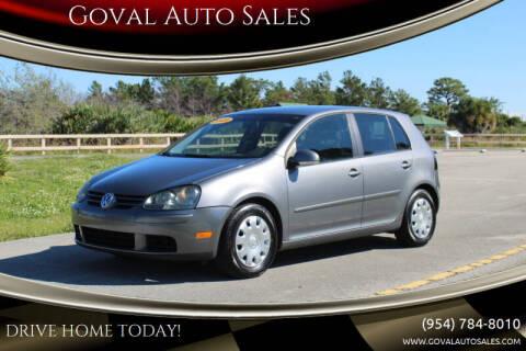 2009 Volkswagen Rabbit for sale at Goval Auto Sales in Pompano Beach FL