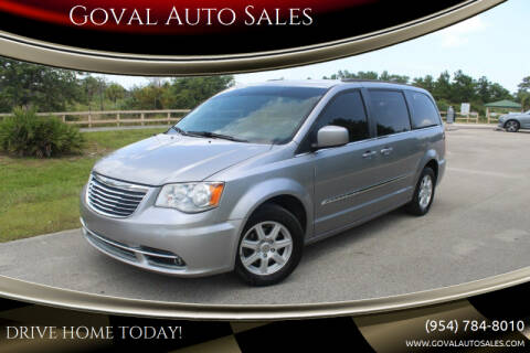 2013 Chrysler Town and Country for sale at Goval Auto Sales in Pompano Beach FL
