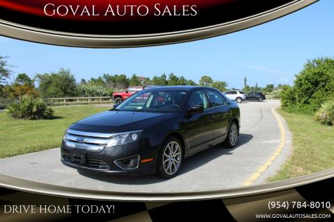 2012 Ford Fusion for sale at Goval Auto Sales in Pompano Beach FL