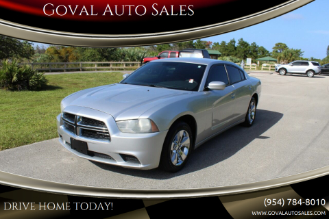 2012 Dodge Charger for sale at Goval Auto Sales in Pompano Beach FL