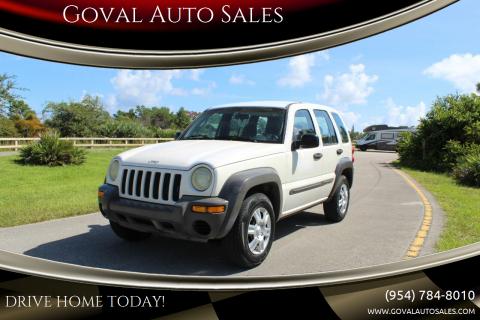 2002 Jeep Liberty for sale at Goval Auto Sales in Pompano Beach FL