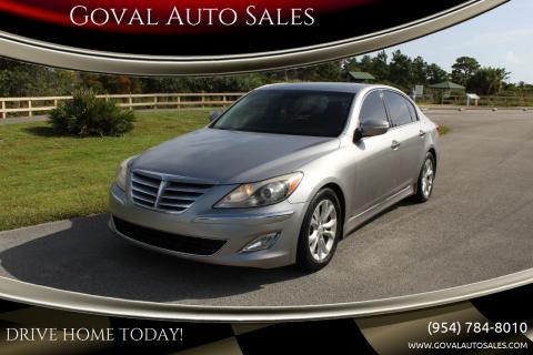 2013 Hyundai Genesis for sale at Goval Auto Sales in Pompano Beach FL