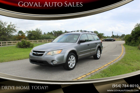 2008 Subaru Outback for sale at Goval Auto Sales in Pompano Beach FL