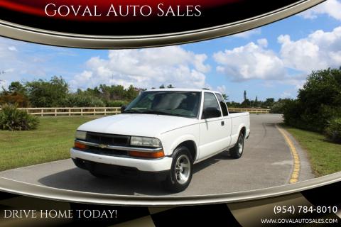 2003 Chevrolet S-10 for sale at Goval Auto Sales in Pompano Beach FL