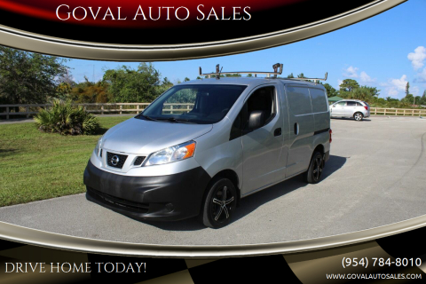 2015 Nissan NV200 for sale at Goval Auto Sales in Pompano Beach FL