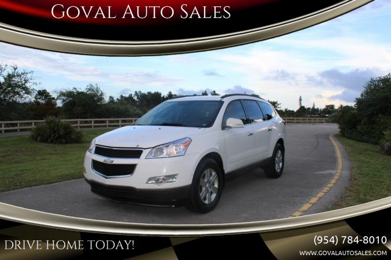 2012 Chevrolet Traverse for sale at Goval Auto Sales in Pompano Beach FL