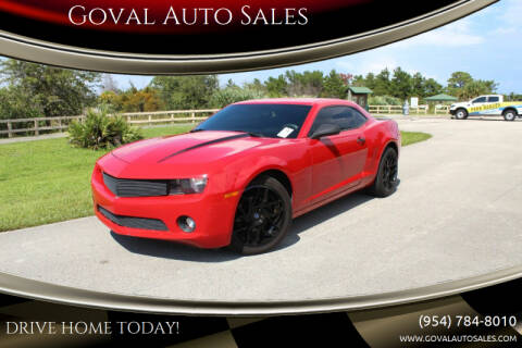 2011 Chevrolet Camaro for sale at Goval Auto Sales in Pompano Beach FL