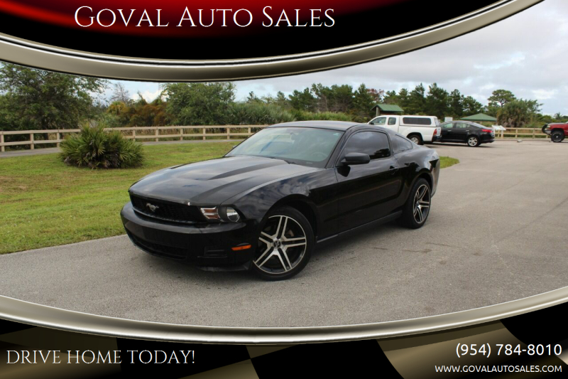 2011 Ford Mustang for sale at Goval Auto Sales in Pompano Beach FL