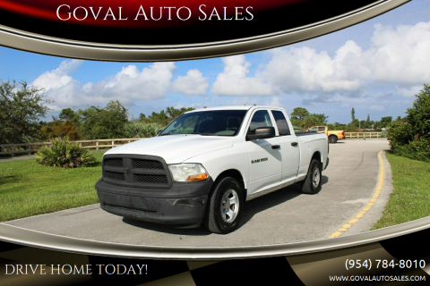 2012 RAM Ram Pickup 1500 for sale at Goval Auto Sales in Pompano Beach FL