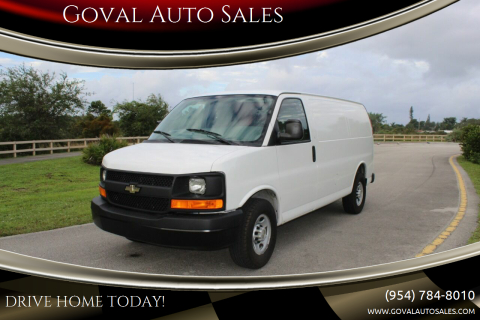2013 Chevrolet Express Cargo for sale at Goval Auto Sales in Pompano Beach FL