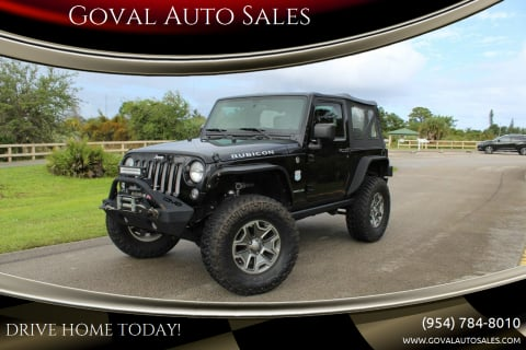 2015 Jeep Wrangler for sale at Goval Auto Sales in Pompano Beach FL