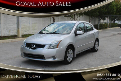 2012 Nissan Sentra for sale at Goval Auto Sales in Pompano Beach FL