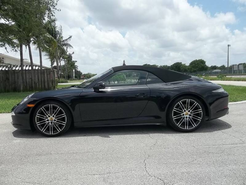 2016 Porsche 911 Awd Carrera 4 Black Edition 2dr Convertible In
