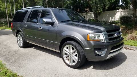 2016 Ford Expedition EL for sale at DELRAY AUTO MALL in Delray Beach FL
