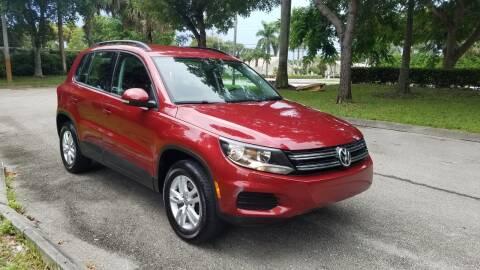 2015 Volkswagen Tiguan for sale at DELRAY AUTO MALL in Delray Beach FL