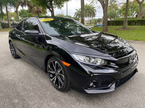 2018 Honda Civic for sale at DELRAY AUTO MALL in Delray Beach FL
