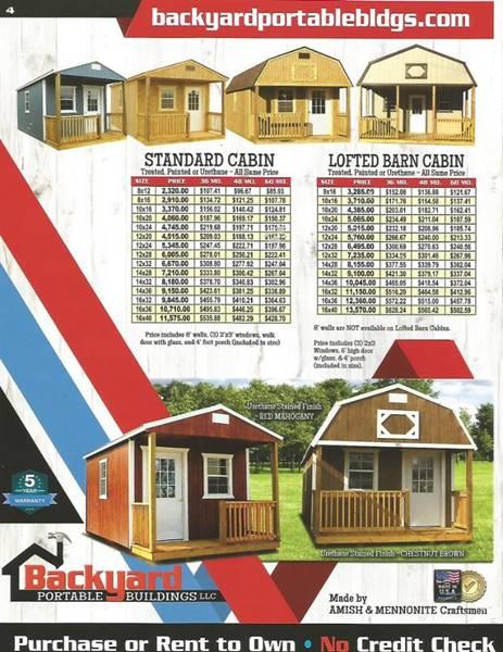 $123,456 - 2018 Backyard Portable Building Cabins / Utility In Chanute KS