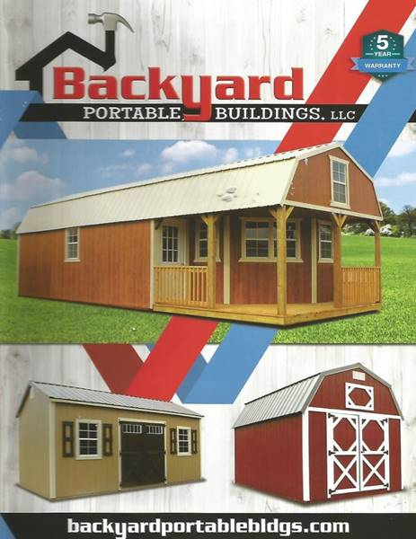 2018 Backyard portable building Cabins / utility for sale at Cars R Us in Chanute KS