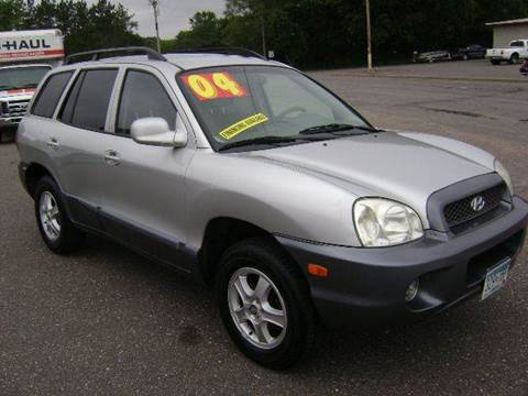 2004 Hyundai Santa Fe for sale at Country Side Car Sales in Elk River MN