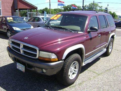 2002 Dodge Durango for sale at Country Side Car Sales in Elk River MN