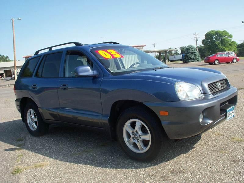 2003 Hyundai Santa Fe for sale at Country Side Car Sales in Elk River MN