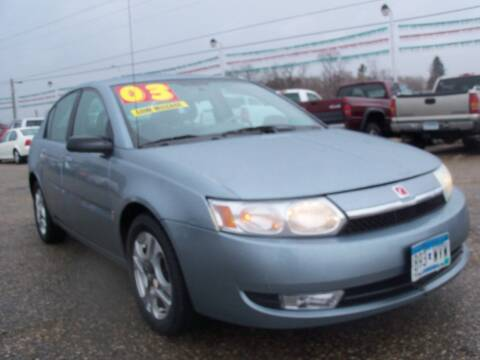 2003 Saturn Ion for sale at Country Side Car Sales in Elk River MN